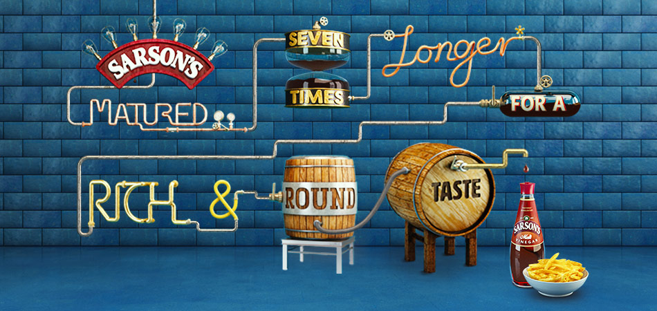 Sarson's is matured seven times longer* for a rich and round taste