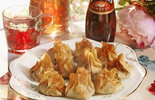 Pickled Red Cabbage with Filo Parcels