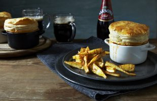 Homemade Steak & Stout Pie