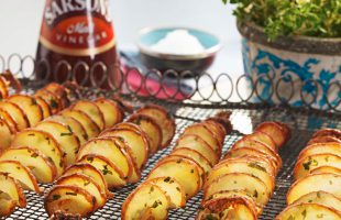 Potato Twister with Garlic & Herbs Recipe