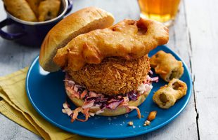 Crab Cake & Pickled Red Cabbage by Hip Hop Chip Shop
