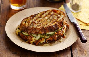 BBQ Pulled Pork Grilled Cheese Sandwich by Holy Toast