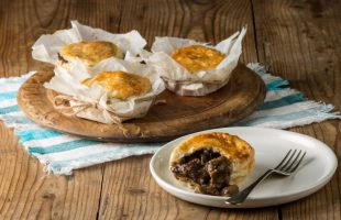 Mini Steak Pie with Worcester Sauce