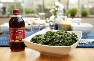 Sauteed Savoury Kale with Garlic & Anchovy