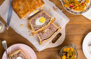 Pork & Egg Pie with Homemade Piccalilli