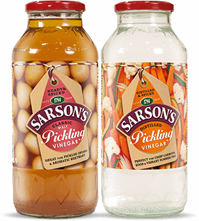 Bottle of Sarson's Pickling Vinegar