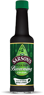 Bottle of Sarson's Browning Sauce