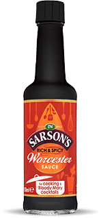 Bottle of Sarson's Worcester Sauce