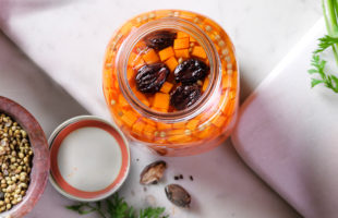 Pickled Carrots with Black Cardamom