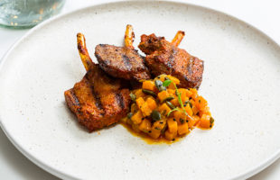 Minted Lamb Chops & Pickled Pumpkin