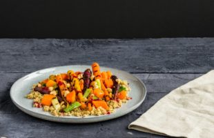 Autumn Vegetable Salad with Beetroot Dressing