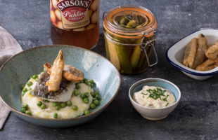 Haddock with Salt & Vinegar Mash