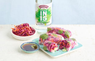 Quick-Pickled Red Cabbage & Vietnamese Summer Rolls
