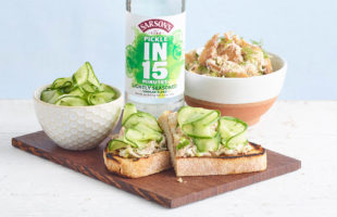 Quick-Pickled Cucumber with Mackerel Pâté
