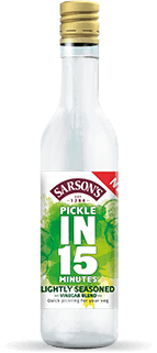 Bottle of Sarson's Pickle in 15 Min- Lightly Seasoned